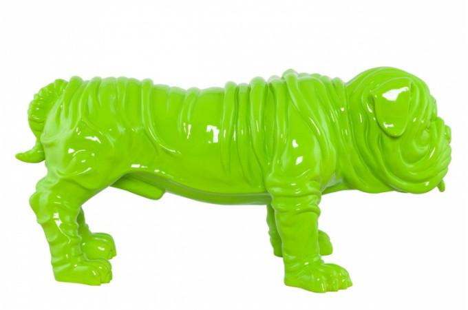 statue dog vert bouly statues d co pas cher declik deco. Black Bedroom Furniture Sets. Home Design Ideas
