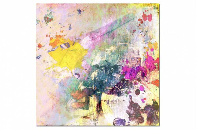 Tableau abstrait multicolore maelo 60x60 cm tableaux for Tableau peinture pas cher
