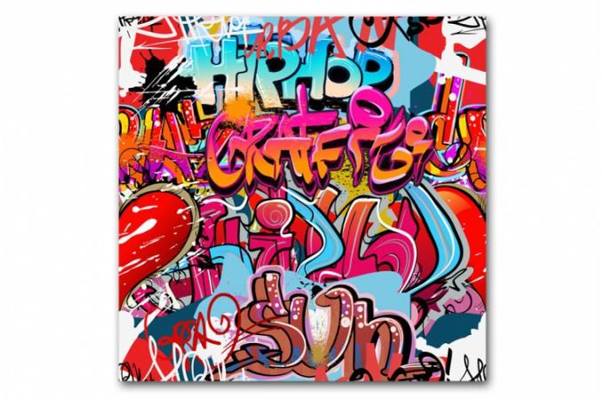 Tableau Graffiti Multicolore 50x50 Cm Tableaux Abstraits