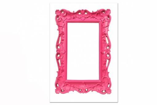 Tableau baroque cadre rose 55x80 cm tableaux baroques pas cher - Petit cadre baroque pas cher ...