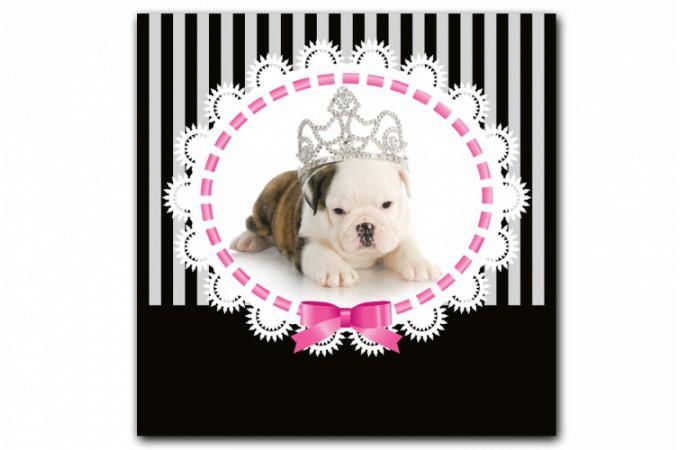 tableau enfant chien princesse baroque 50x50 cm tableaux animaux pas cher. Black Bedroom Furniture Sets. Home Design Ideas