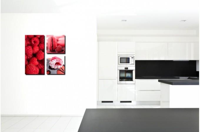 tableau triptyque gourmand fruits rouges tableaux gourmands pas cher. Black Bedroom Furniture Sets. Home Design Ideas