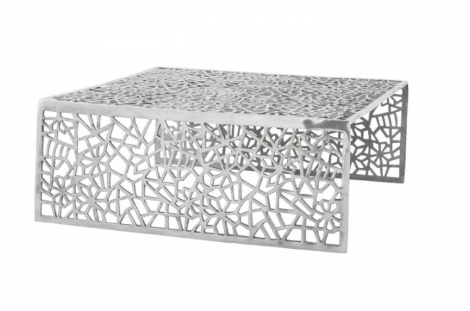 Table basse design en alu alveoles tables basses pas cher - Table salon design pas cher ...