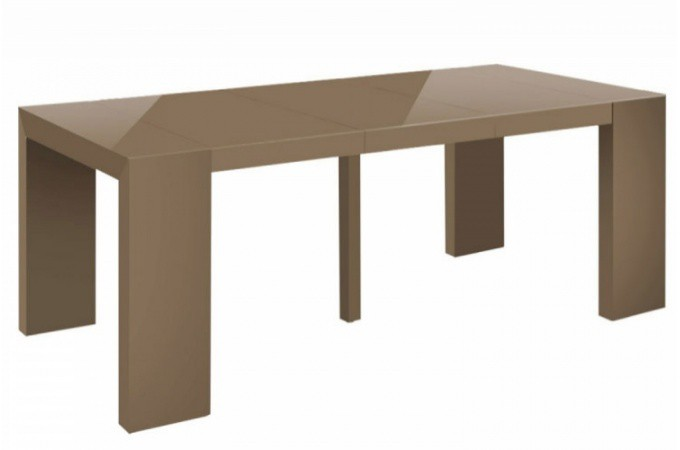 Table console extensible taupe laqu pas ch re - Table extensible pas chere ...
