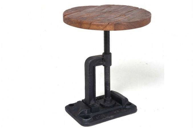 table d 39 appoint industrie pas ch re. Black Bedroom Furniture Sets. Home Design Ideas