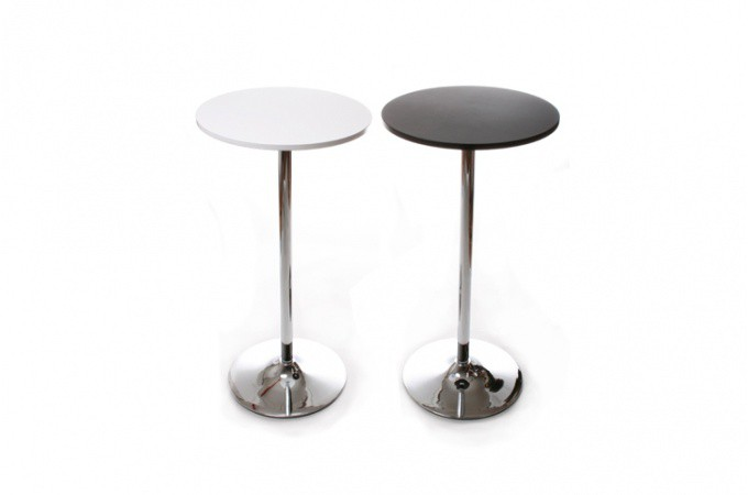 Table de bar snack noir design tables de bars pas cher for Table de bar noir