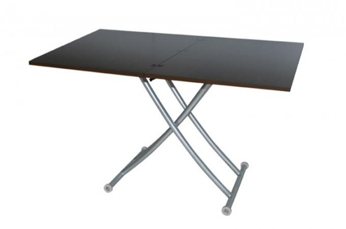 Table basse relevable rallonge wenge ella declikdeco - Table relevable rallonge ...