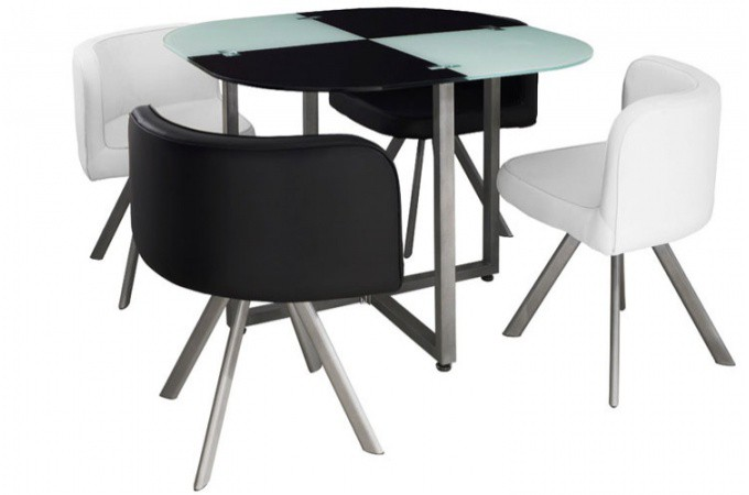 Table repas damier avec 4 chaises tables manger pas cher - Table a manger avec chaises ...