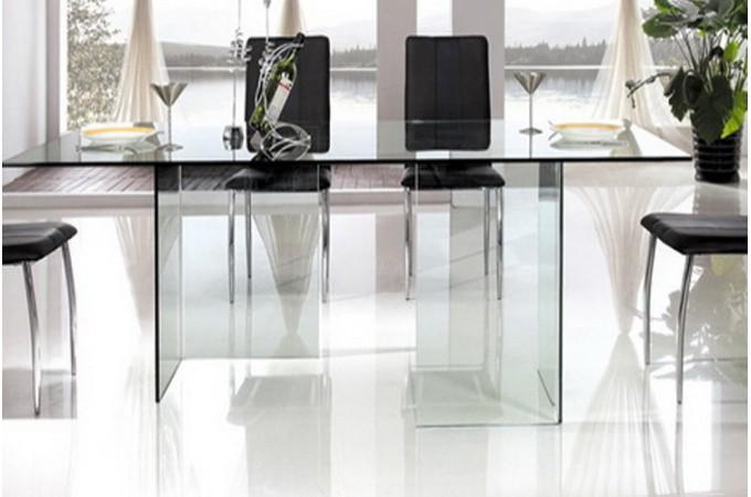 Table de repas en verre jafar tables manger pas cher - Table repas design ...