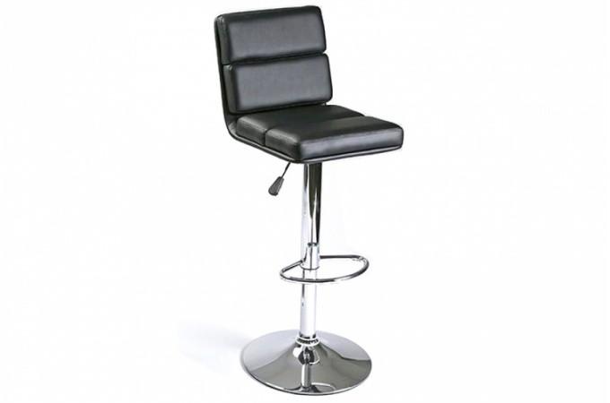 Tabouret de bar design en simili cuir noir chaise de bar - Tabouret de bar design cuir ...