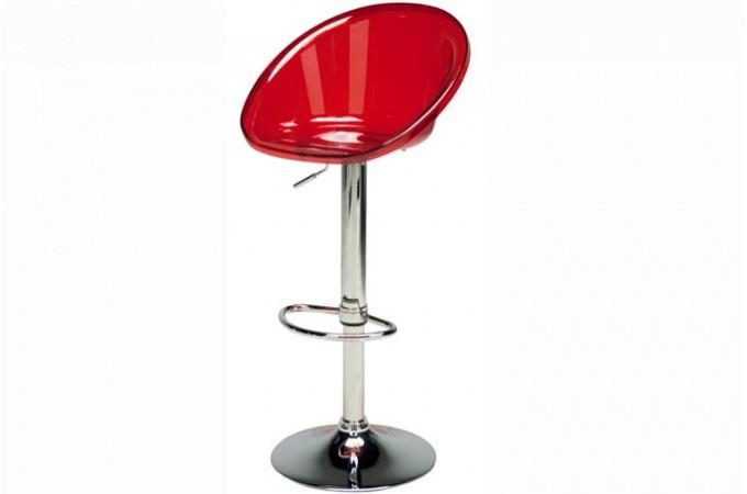 tabouret de bar rouge transparent roxy tabourets de bar. Black Bedroom Furniture Sets. Home Design Ideas