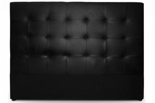 t te de lit capitonn e 160 cm cocoon noir t tes de lit. Black Bedroom Furniture Sets. Home Design Ideas