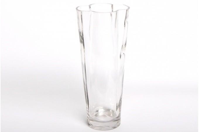 vase design en verre marguerite 28 cm vases et vides poches pas cher. Black Bedroom Furniture Sets. Home Design Ideas