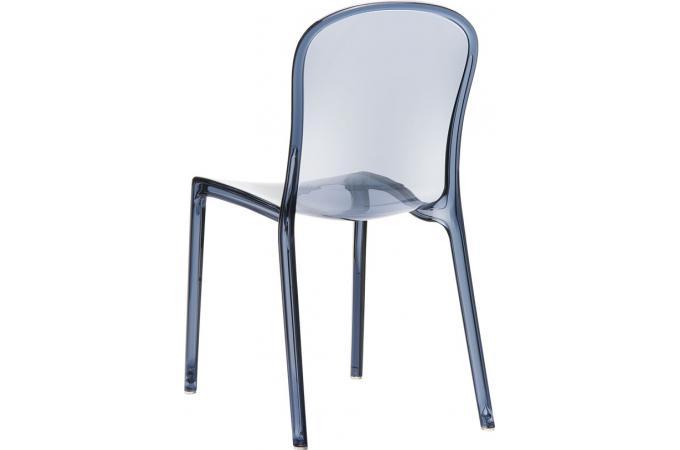 Chaise design grise anthracite transparente viva chaise for Chaise grise transparente