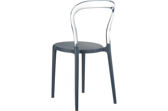Chaise design grise et transparente elegant chaise design pas cher - Chaise transparente grise ...