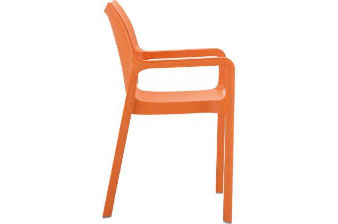 chaise design orange divina chaise design pas cher. Black Bedroom Furniture Sets. Home Design Ideas