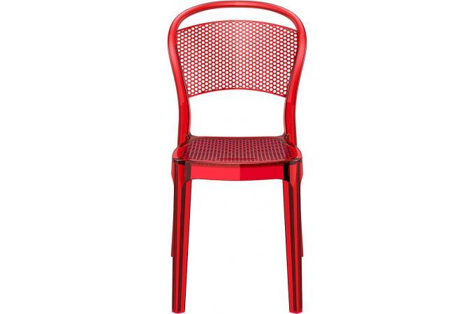Chaise design rouge transparent biz chaise design pas cher for Chaise rouge design pas cher