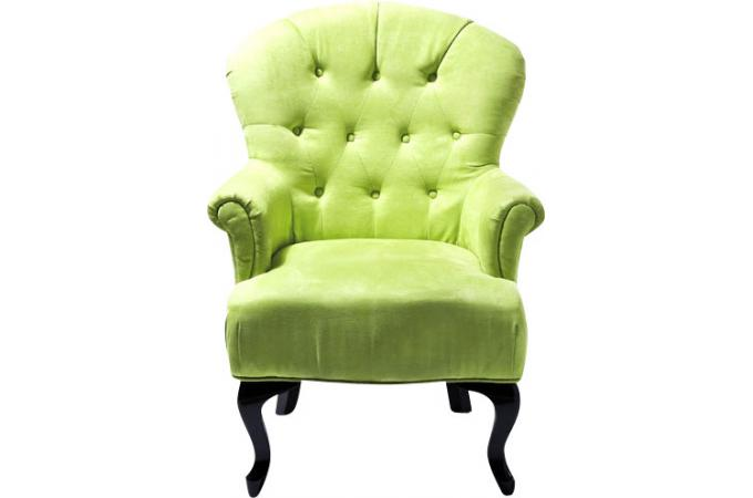 fauteuil baroque capitonn vert anis fauteuils design. Black Bedroom Furniture Sets. Home Design Ideas