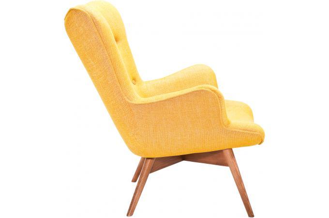 Fauteuil jaune en viscose reiko fauteuil design pas cher - Fauteuil jaune pas cher ...