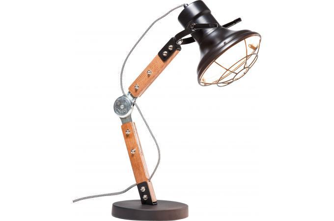 Lampe de table bicolore en bois sally lampe poser pas cher for Table bois bicolore