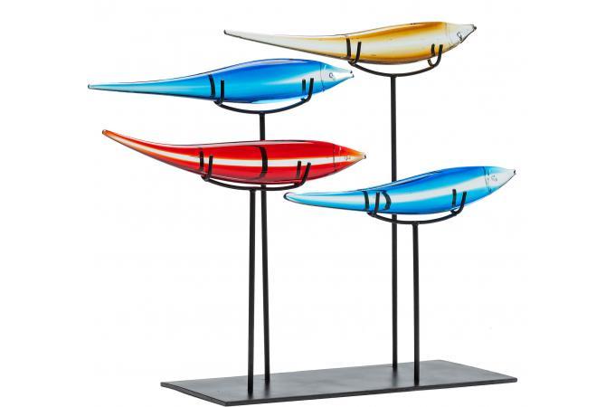 Objets d coratifs pesce colore statue design pas cher for Objets decoratifs