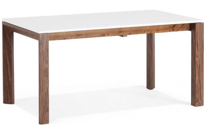 Table manger avec allonge blanche 8 personnes bastien for Taille table 8 personnes