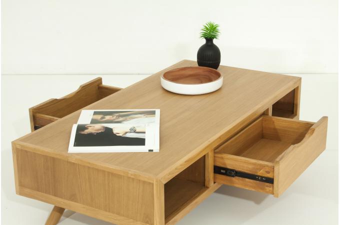 Table basse en bois massif matteo table basse pas cher - Table basse en bois massif pas cher ...