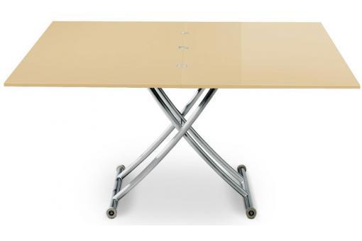 Table basse relevable rallonge beige ella table basse - Table basse relevable avec rallonge ...
