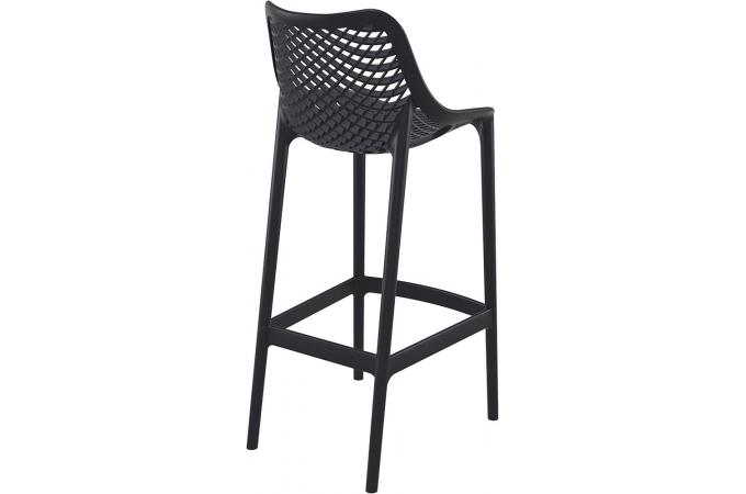tabouret de bar design noire alison tabouret de bar pas cher. Black Bedroom Furniture Sets. Home Design Ideas