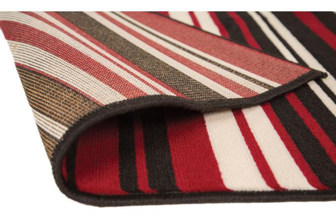 tapis 100 polypropylene maidstone 120x160 rouge et noir tapis design pas cher. Black Bedroom Furniture Sets. Home Design Ideas
