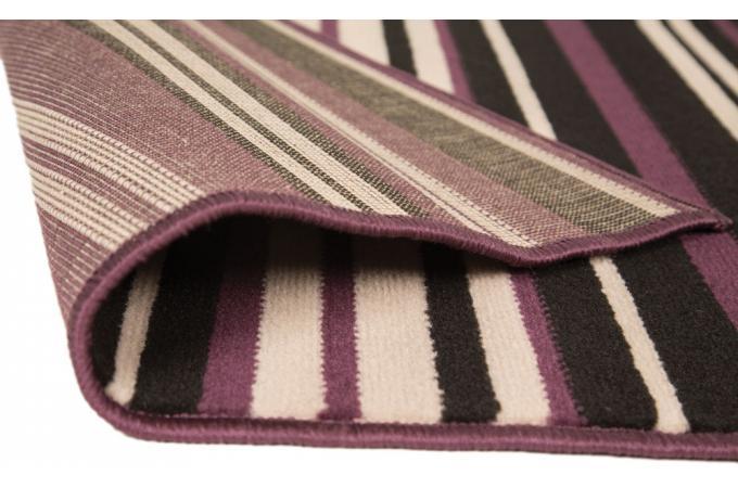 Tapis 100 polypropylene maidstone 160x220 violet et noir tapis design pas - Tapis violet et noir ...