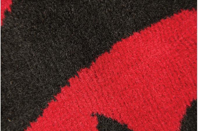 Tapis 100 polypropylene warrool 160x220 rouge et noir tapis design pas cher - Tapis rouge et noir design ...
