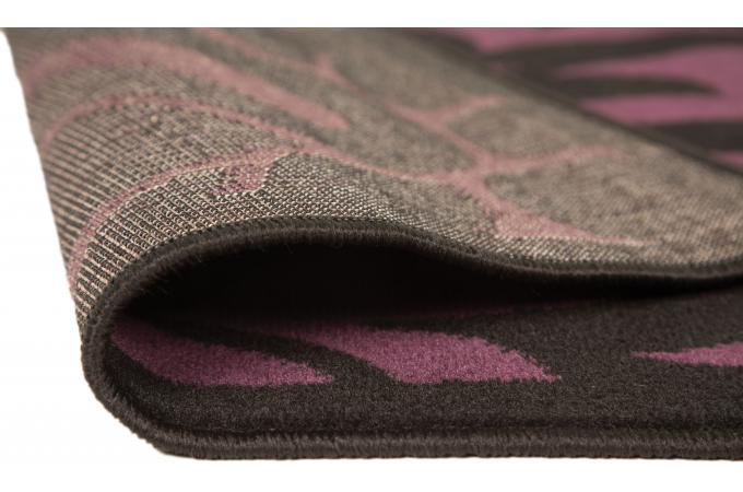 Tapis 100 polypropylene warrool 80x150 noir et violet - Tapis noir et violet ...