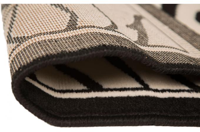 Tapis 100 polypropylene zebra 120x160 noir et blanc - Tapis noir et blanc pas cher ...