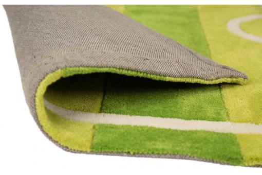 tapis acrylique et polyester 140gms football 70x100 vert tapis enfant pas cher. Black Bedroom Furniture Sets. Home Design Ideas