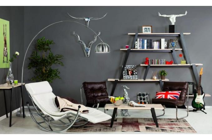 t te de buffle argent e en aluminium texas statue design pas cher. Black Bedroom Furniture Sets. Home Design Ideas