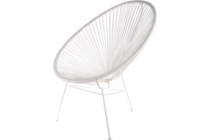 fauteuil blanc design acapulco fauteuil et chaise de. Black Bedroom Furniture Sets. Home Design Ideas