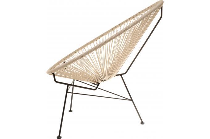 Fauteuil la chaise longue taupe acapulco fauteuil design pas cher - Chaise acapulco pas cher ...