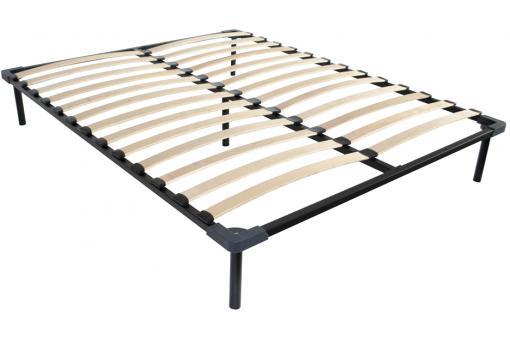 sommier lattes 140x190 sur pieds sommier pas cher. Black Bedroom Furniture Sets. Home Design Ideas