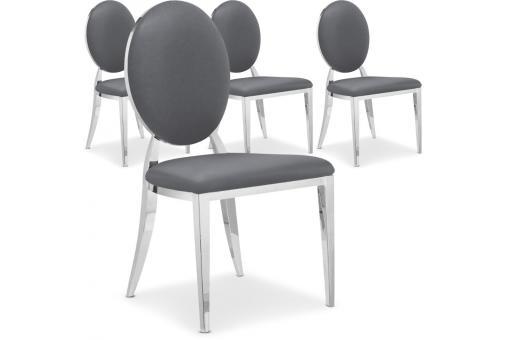lot de 4 chaises sofia baroque gris chaise design pas cher. Black Bedroom Furniture Sets. Home Design Ideas
