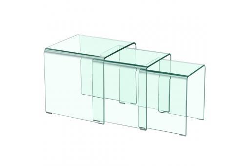 table basse gigogne transparente otta table basse pas cher. Black Bedroom Furniture Sets. Home Design Ideas