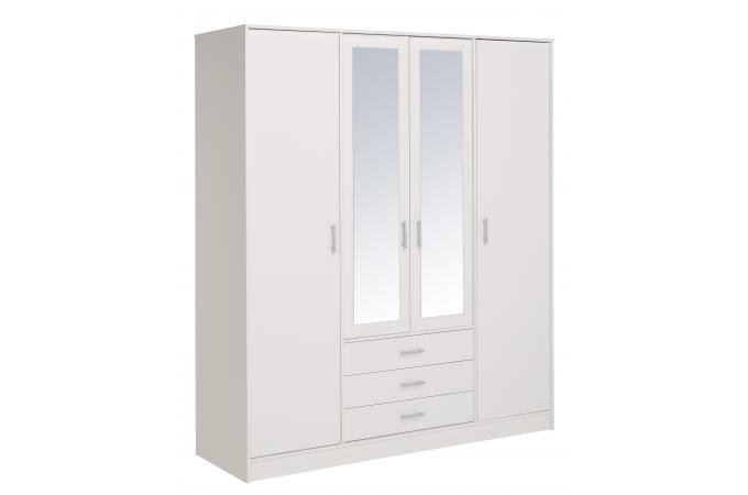 Dressing 4 portes blanc meuble de rangement pas cher - Dressing chaussures pas cher ...