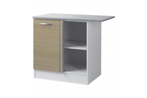 Element bas de cuisine d 39 angle ch ne meuble de rangement - Element bas angle cuisine ...