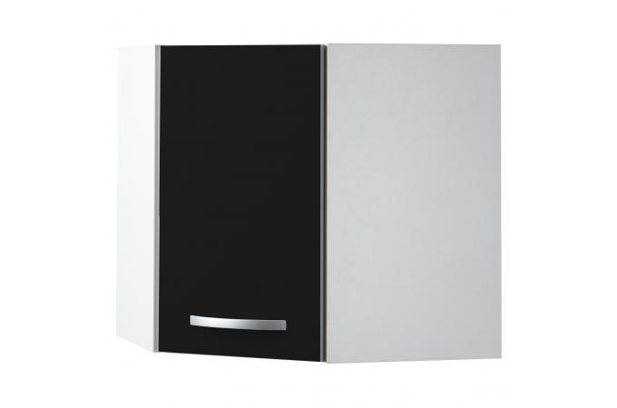element haut de cuisine d 39 angle noir meuble de rangement pas cher. Black Bedroom Furniture Sets. Home Design Ideas