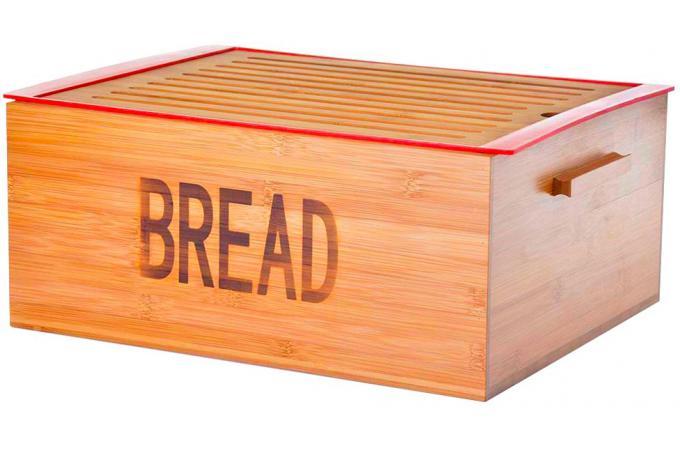 Caisse pain avec plateau bambou 38 x 29 x 16 cm boite for Boite a pain exterieur