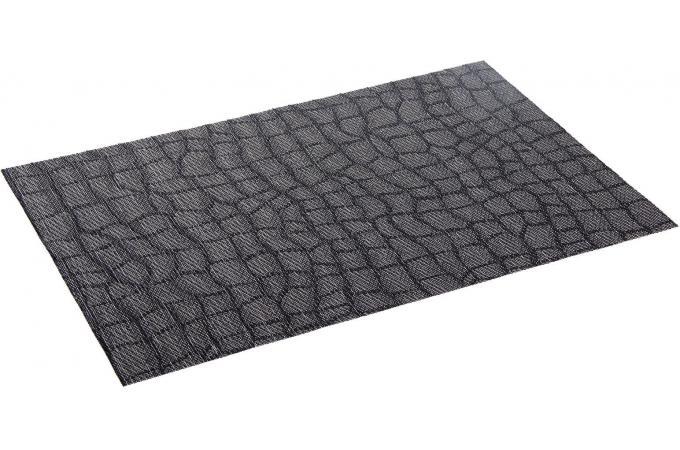 Set de table noir polyester et r sine accessoires - Set de table noir ...