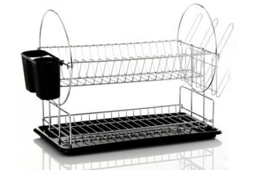 Gouttoir vaisselle 2 hauteurs 50 x 22 x 33 cm noir - Egouttoir vaisselle pas cher ...