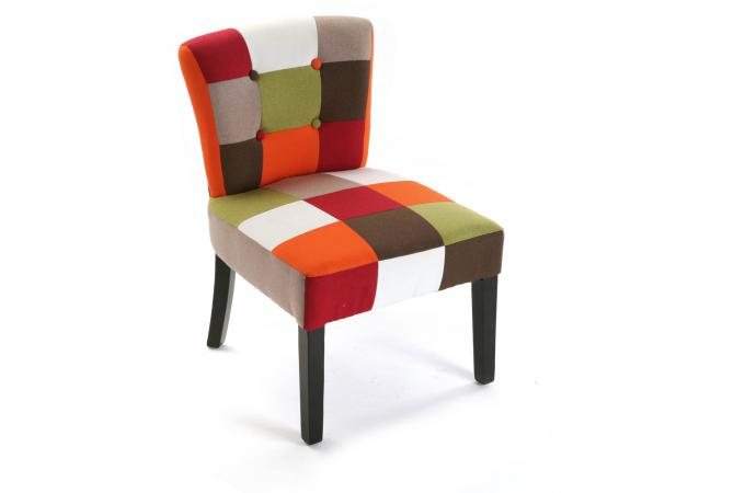 Fauteuil red patchwork fauteuil crapaud pas cher - Fauteuil crapaud patchwork ...
