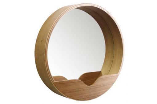 miroir rond avec rangement 60 x 8 cm miroir rond et. Black Bedroom Furniture Sets. Home Design Ideas